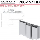 780-157HD 83 Roton Full Surface - Narrow or Inset Frame For Retrofit - Templated Continuous Geared Hinge