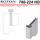 "780-224HD 83 Roton Concealed Leaf - 1-3/4"" Doors - Templated Continuous Geared Hinge"