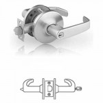 10G05 Sargent cylindrical entry or office lever lock grade 1