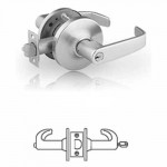 10G54 Sargent cylindrical corridor/dormitory lever lock grade 1