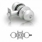6G05 Sargent 6 line cylindrical entry/office knob lock grade 2