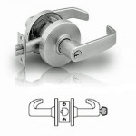 7G04 Sargent cylindrical storeroom or closet lever lock grade 2