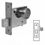 4876 Sargent deadbolt  single cylinder w/blank plate grade 1