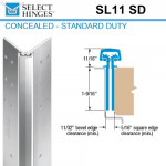 "SL11 SD 95 Select Hinges Concealed Hinge, Flush Mounted, For 1-3/4"" Doors"