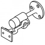 1206 Trimco base stop & holder with wood screws