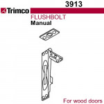 3913 Trimco UL Manual Flushbolt - Wood Doors