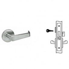8822FL AUR Yale Mortise Dormitory Lever Lock Grade 1