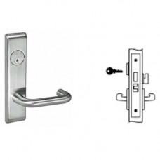 8822FL CRCN Yale Mortise Dormitory Lever Lock Grade 1
